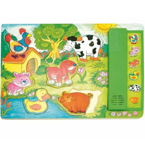 Woody Muzičke puzzle Glasovi životinja 90323 - ODDO igračke