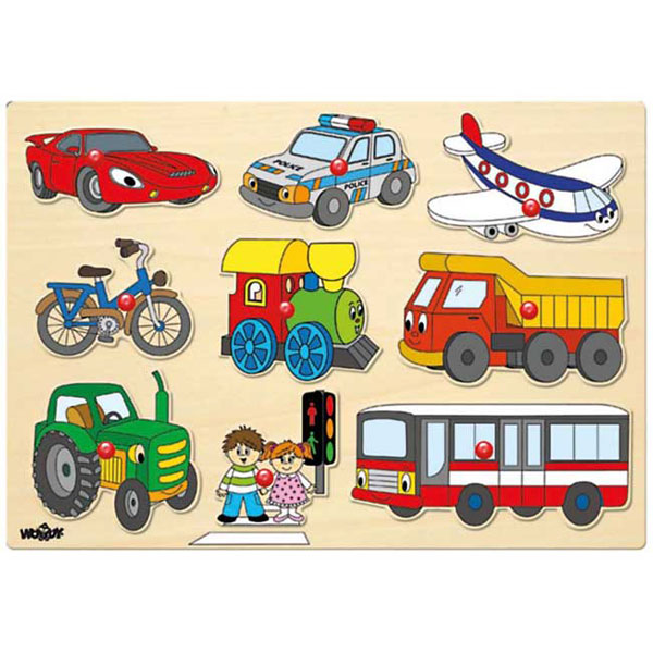 Woody Puzle Transportna vozila 91906 - ODDO igračke