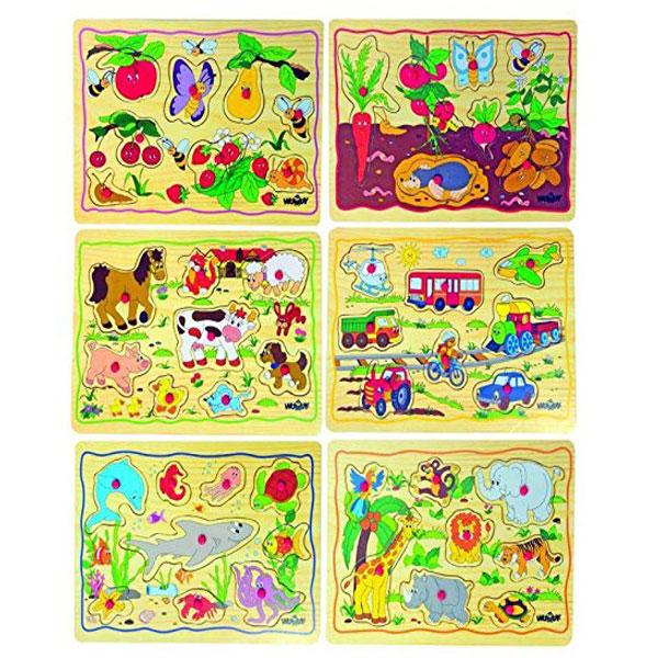 Woody Puzzle od 12 elemenata 90252 - ODDO igračke