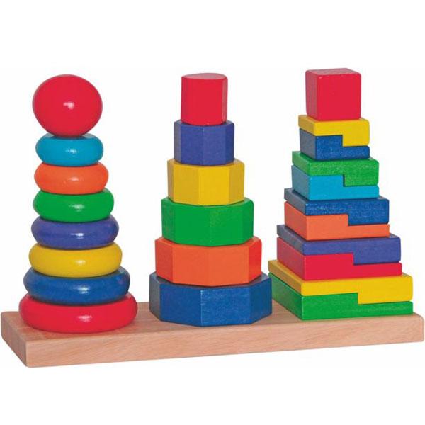 Woody Drvena slagalica Toranj 90836 - ODDO igračke