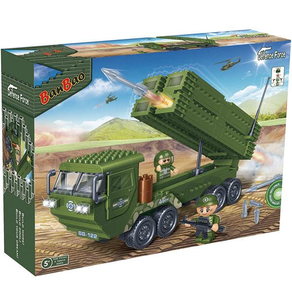 BanBao kocke Vojni kamion sa raketnim sistemom 6205 - ODDO igračke