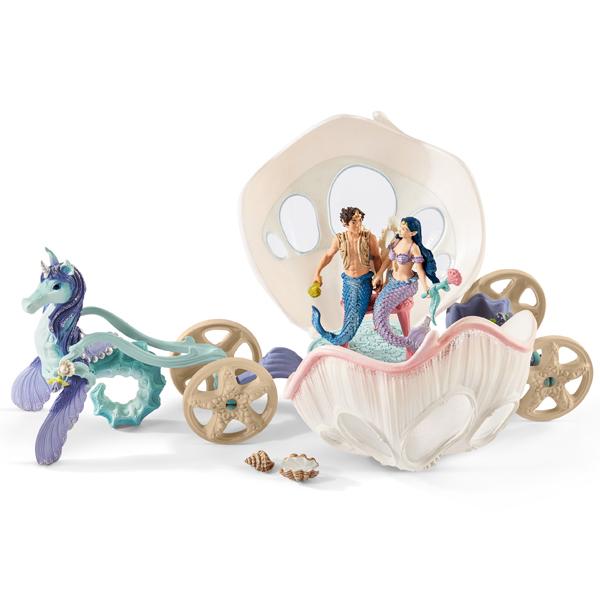 Schleich Bayala figure Kraljevska kočija u obliku školjke za vile 41460 - ODDO igračke