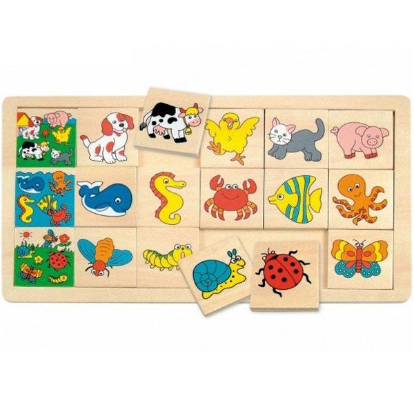 Drvene Puzzle Uporedi slike Harry Woody 90322 - ODDO igračke