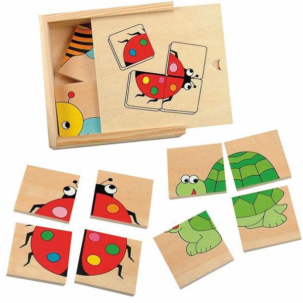 Drvene Puzzle mini Bubamara Woody 90328 - ODDO igračke