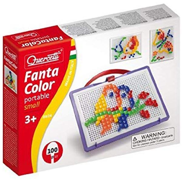 QUERCETTI FANTA COLOR - Mozaik portabl mali 100 delova 0924 - ODDO igračke