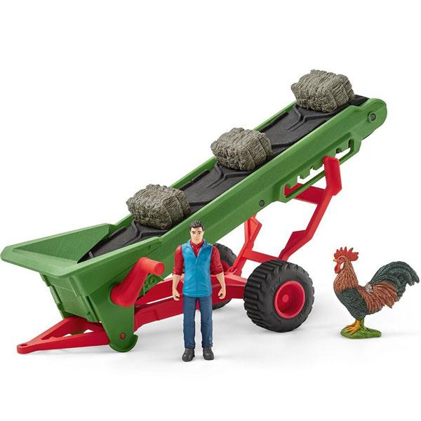 Schleich set Pokretna traka za seme sa farmerom 42377 - ODDO igračke