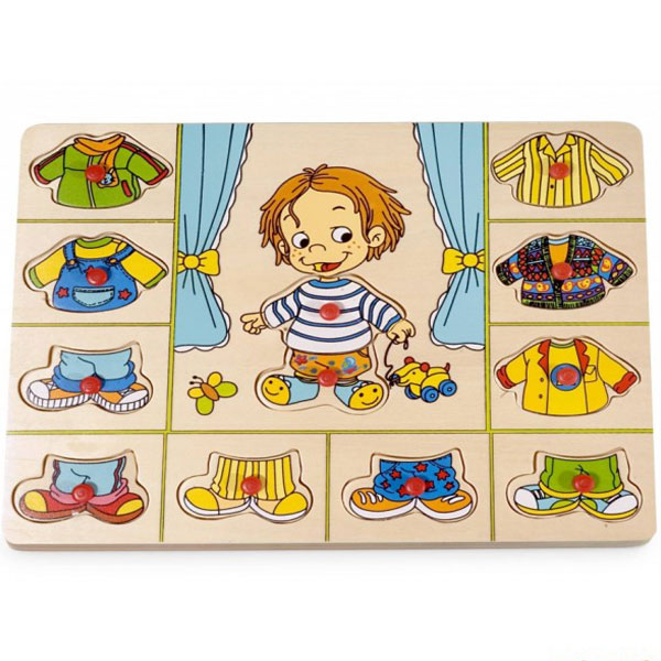 Drvena slagalica Umetaljka Obuci Dečaka 4479A3 - ODDO igračke