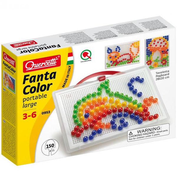 Quercetti Fanta Color Mozaik portabl veliki 150 delova 0953 - ODDO igračke