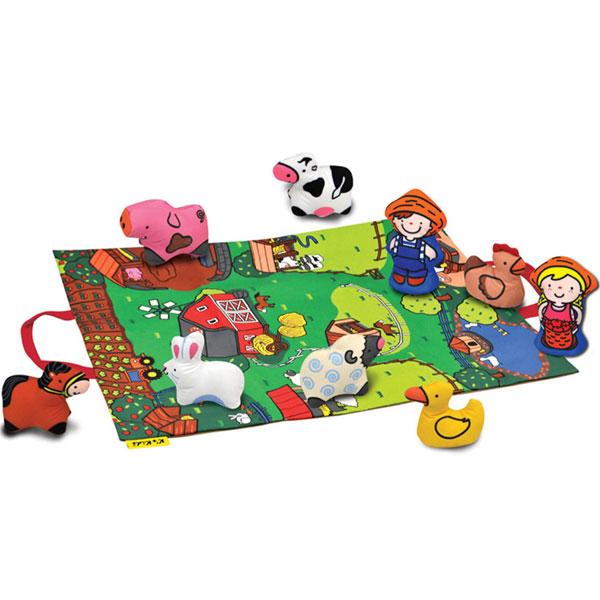 Podloga za igru sa igračkama Set farma KA10743-PG - ODDO igračke