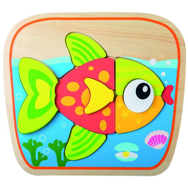 Joueco Drvena slagalica riba 80059 - ODDO igračke