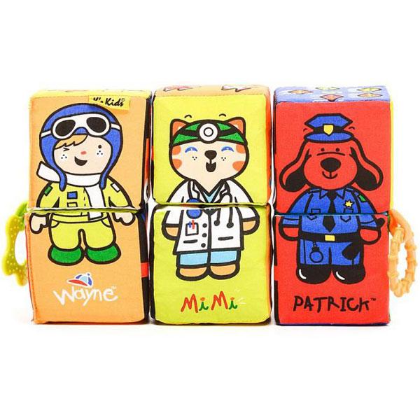 Zanimljive i mekane bebi kocke KA10622-PG - ODDO igračke