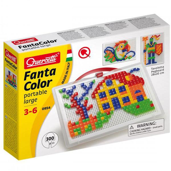 Quercetti Fanta Color Mozaik portabl veliki 300pcs 0954 - ODDO igračke