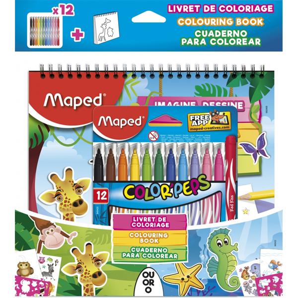 Maped bojanka sa flomasterim Jungle 1/12 M845432 - ODDO igračke