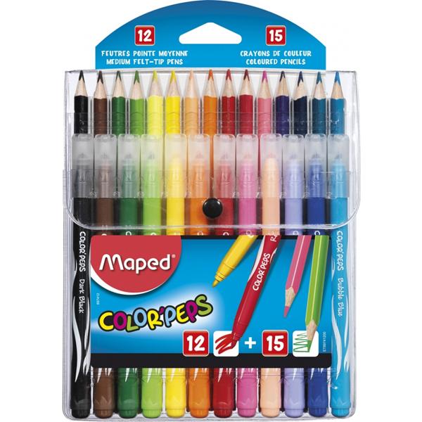 Maped bojice 15 komada i flomasteri 12 komada M897412 - ODDO igračke