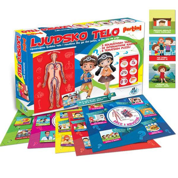 Edukativno zabavna društvena igra Ljudsko telo Pertini P-0325 - ODDO igračke