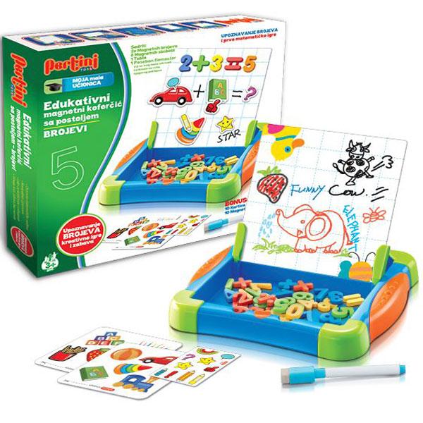 Koferčić magnetni sa postoljem, Brojevi P-0334 - ODDO igračke