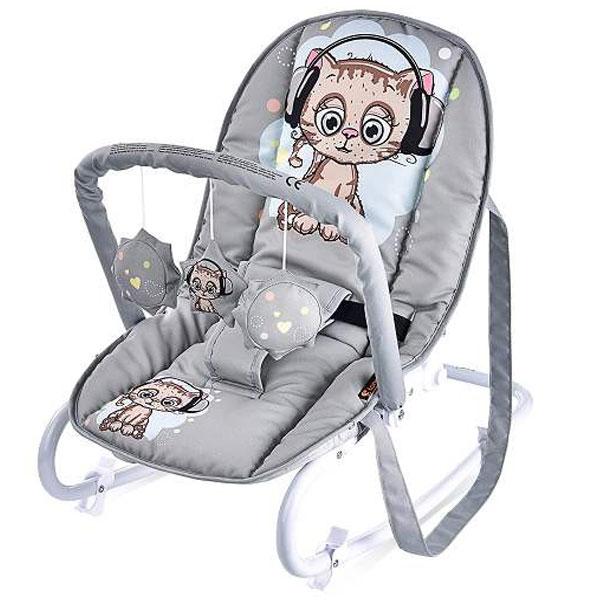 Ležaljka Top Relax Grey Cute Kitten 10110021805 - ODDO igračke