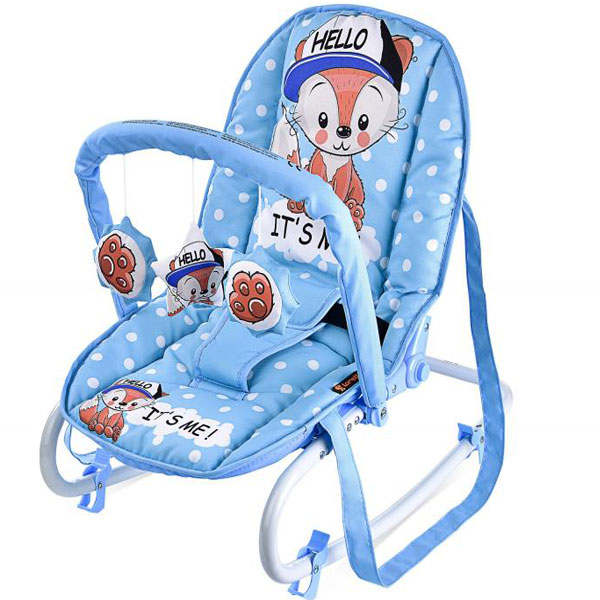 Ležaljka Top Relax Blue Baby Fox 10110021820 - ODDO igračke