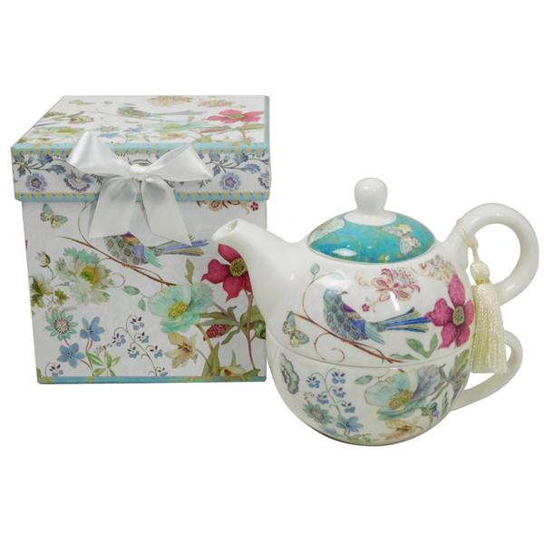 Keramički komplet šolja sa čajnikom u ukrasnoj kutii 52964 - ODDO igračke