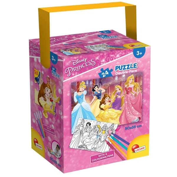 Slagalica Lisciani 24pcs + 4 flomastera Princess 2u1 složi i oboji 65899 - ODDO igračke