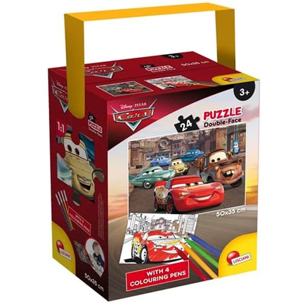 Slagalica Lisciani 24pcs + 4 flomastera Cars 3 2u1 složi i oboji 65257 - ODDO igračke
