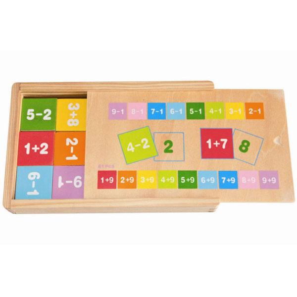 Woody Učenje matematike u kutiji sabiraj i oduzimaj 90898 - ODDO igračke