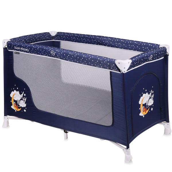 Prenosivi Krevetac San Remo 1 Nivo Blue Good Night 10080011804 - ODDO igračke