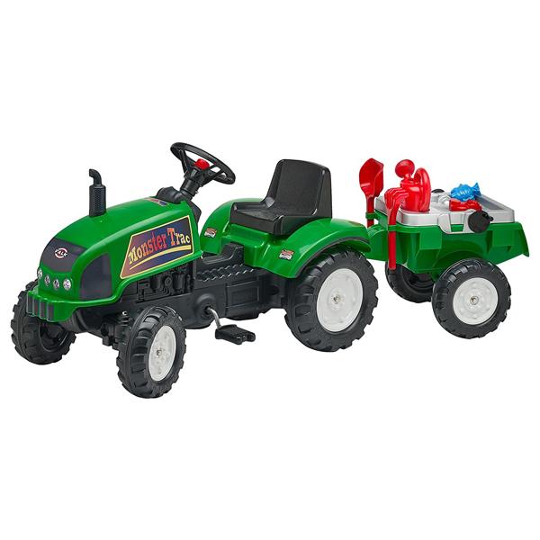 Traktor Falk na pedale sa prikolicom Green Monster 2047e - ODDO igračke