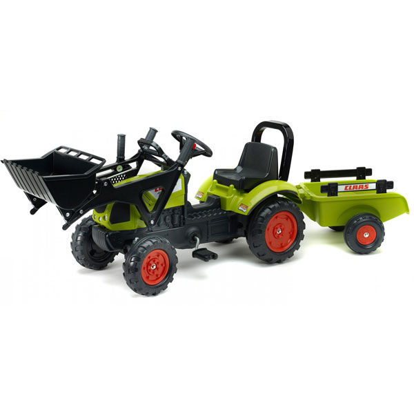 Traktor na pedale Falk Claas Arion 410 sa kašikom i prikolicom 2040am - ODDO igračke