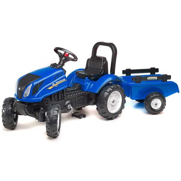 Traktor Falk na pedale New Holland T6 sa prikolicom 3080ab - ODDO igračke