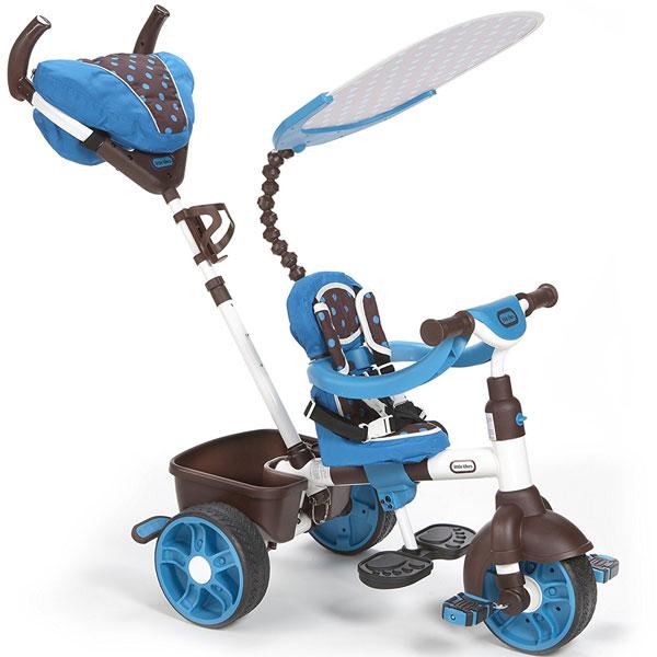 Tricikl sa ručkom i tendom sportski 4 u 1 plavi Little Tikes LT634352 - ODDO igračke