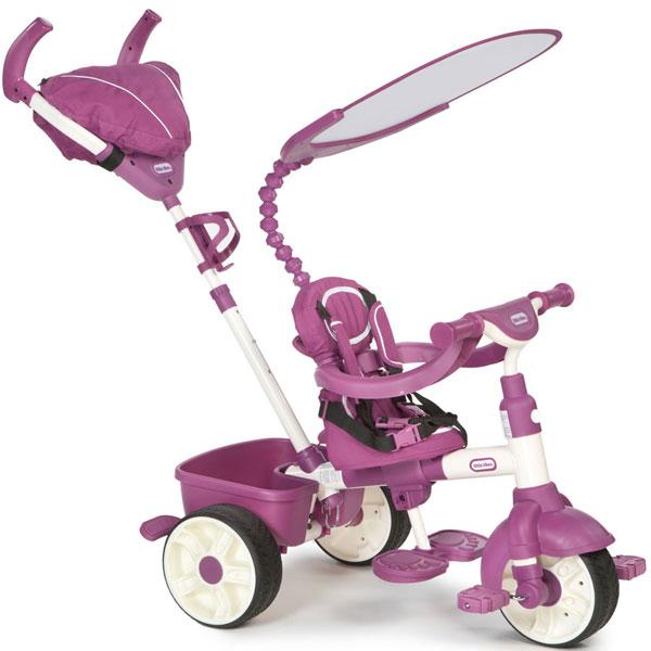 Tricikl sa ručkom i tendom sportski 4 u 1 roze Little Tikes LT634369 - ODDO igračke