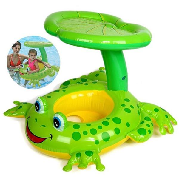 Šlauf sa nadstrešnicom žaba Intex 119x79cm 56584 - ODDO igračke