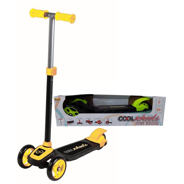 Trotinet Cool Wheels zuti sa tri tocka Twist FR57874 - ODDO igračke