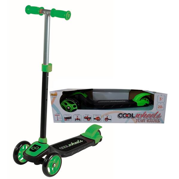 Trotinet Cool Wheels zeleni sa tri točka Twist FR57881 - ODDO igračke