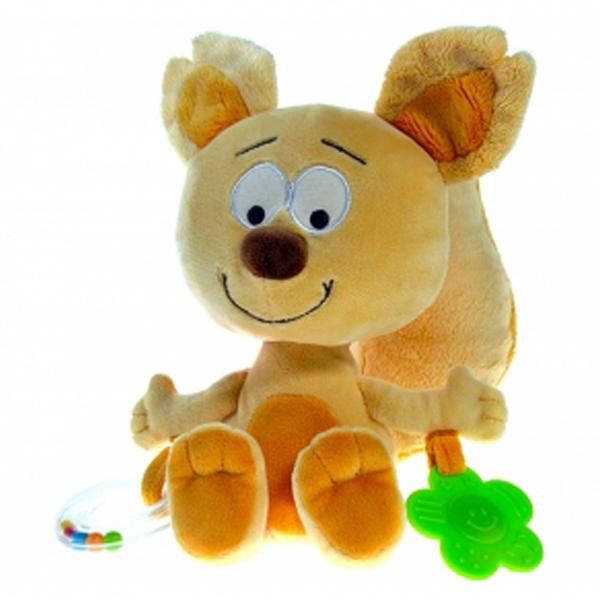 Baby plišana veverica sa zveckom i glodalicom 20cm 507317 - ODDO igračke