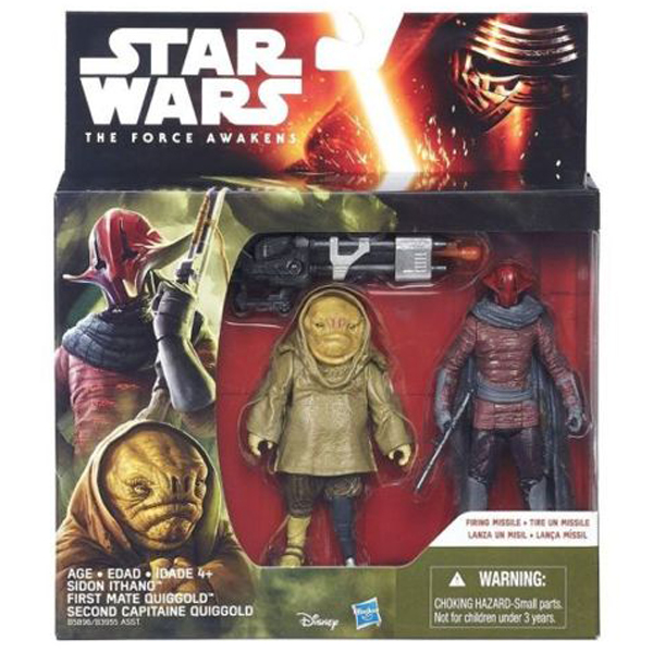 Star Wars The Force Awakens Sidon Ithano i First Mate Quiggold B5896 - ODDO igračke