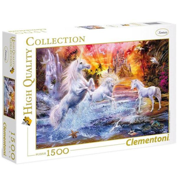 Clementoni puzzla Wild Unicorns 1500pcs 31805 - ODDO igračke