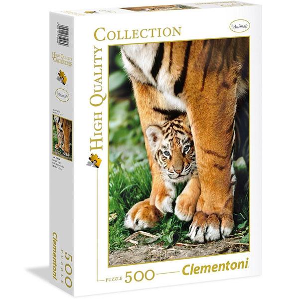 Clementoni puzzla Bengal Tiger Cub Between Its Mot 500pcs 35046 - ODDO igračke