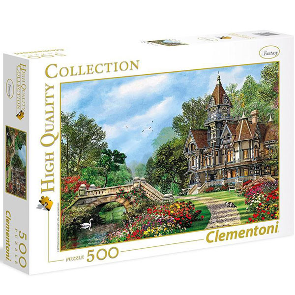 Clementoni puzzla Old Waterway Cottage 500pcs 35048 - ODDO igračke