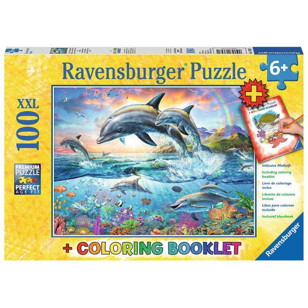 Ravensburger puzzle (slagalice) 100pcs Delfini RA13697 - ODDO igračke