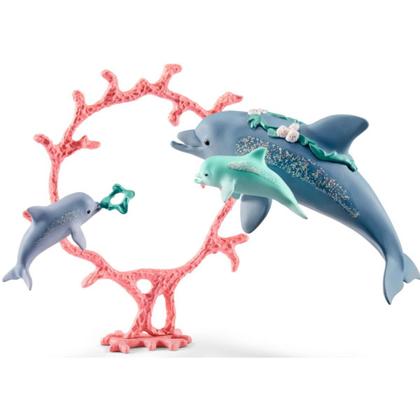 Schleich Delfini porodica Mama sa bebama 41463 - ODDO igračke
