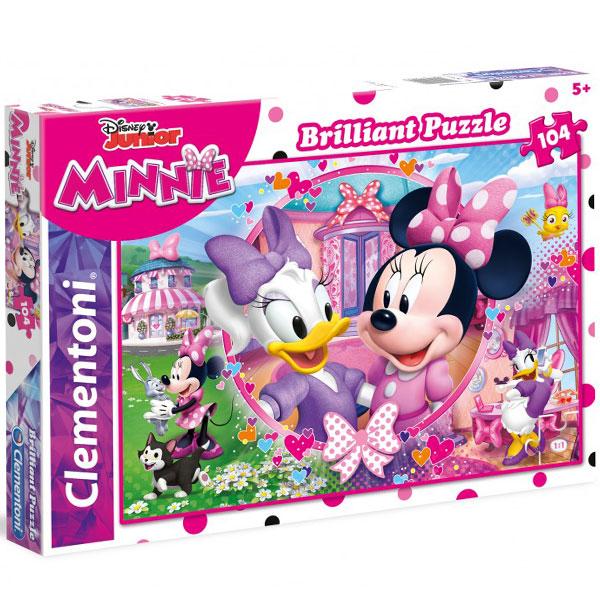 Clementoni puzzla Brilliant Minnie Mouse Happy Helpers 104pcs 20145  - ODDO igračke