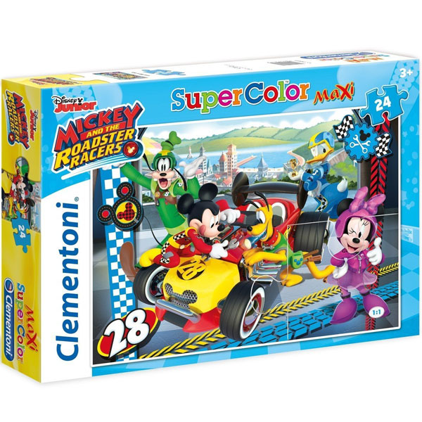 Clementoni puzzla Mickey Roadster Racers 24 maxi 24481.2 - ODDO igračke