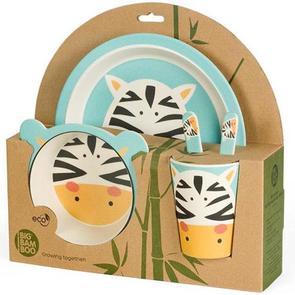 Set za jelo Zebra BigBamBoo BB102.4 - ODDO igračke