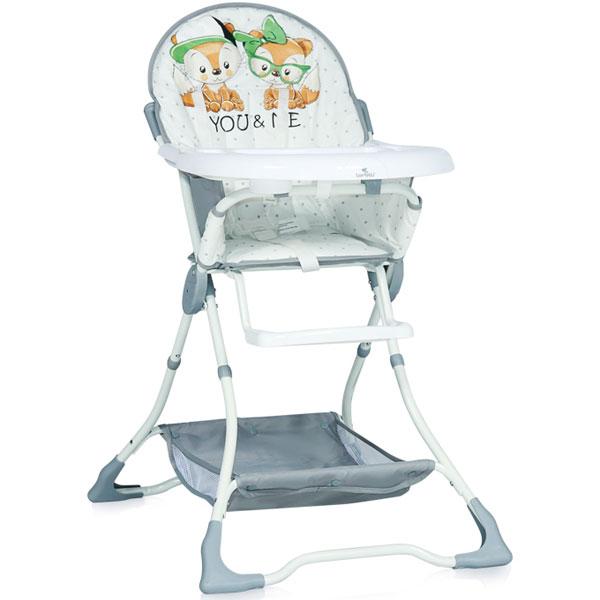 Stolica za hranjenje Bonbon Grey Foxes 10100311828 - ODDO igračke