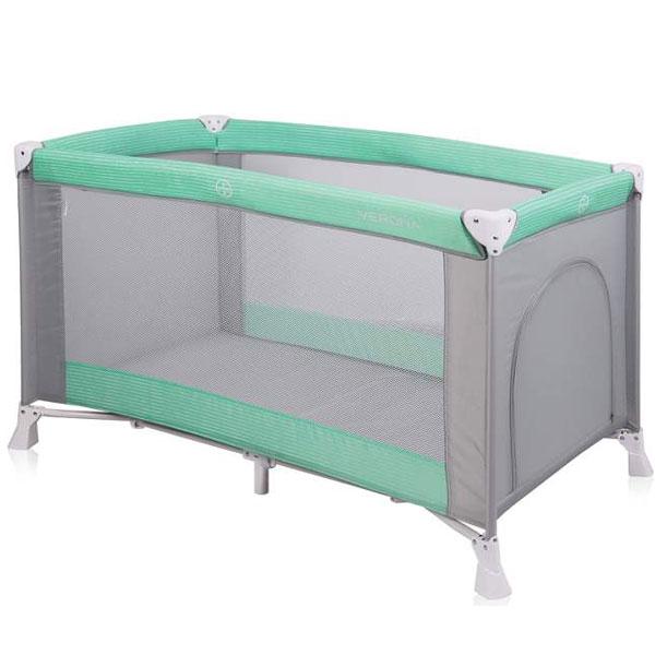 Prenosivi Krevetac Verona 1 Nivo Green&Grey 10080251814 - ODDO igračke