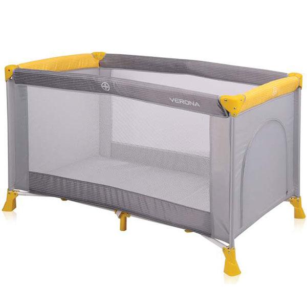 Prenosivi Krevetac Verona 1 Nivo Grey&Yellow 10080251815 - ODDO igračke