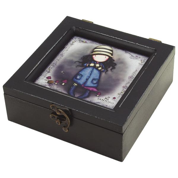 Kutija ukrasna drvena pravougaona The Collector Gorjuss 521GJ02 - ODDO igračke