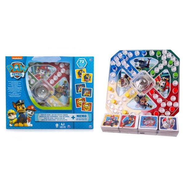 Paw Patrol Čovece ne ljuti se i Memo igra Spin Master 6036439 - ODDO igračke